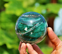 Superb 8CM Green Kyanite Crystal Quartz Chakra Reiki Healing Energy Stone Sphere