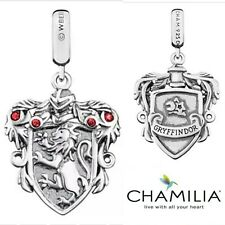 Genuine Chamilia 925 silver Harry Potter Gryffindor bracelet charm in box