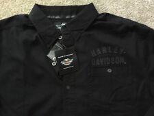 Harley Davidson winged Bar And Shield Long Sleeve Black Shirt NWT Men's  XL