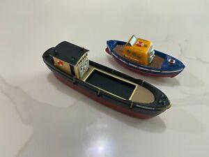 Bulstrode barge + Captain boat LOT - Thomas Friends Train Take Along metal