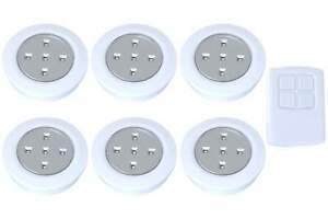 LED Spot Lampen weiss mit Ferbedienung 7er-Set batterieberieb Timer Leuchte