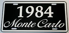 1984 84 MONTE CARLO METAL LICENSE PLATE 350 400 454 SS LOWRIDER NASCAR CHEVY