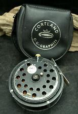 Vtg Fly Fishing Reel  Cortland 444 USA with bag (K3)