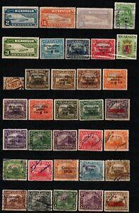 Nicaragua small lot of used stamps Overprinted