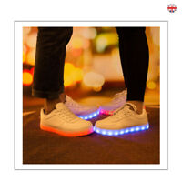 Fashion Flashing LED Light Up Shoes Luminous Sneakers Men Women Leather Casual