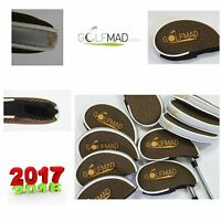 10 Golf Mad Iron Covers Golf Headcovers for Ping Titleist Nike Cobra Clubs Only