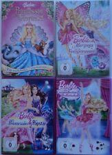Barbie 4 DVD 309 Min Ballettschule + Feenprinzessin + Prinzessin Popstar + Tieri