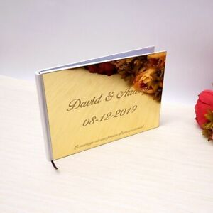 Weddings Custom Signature Guestbook Photo Album Acrylic Mirror White Blank Party