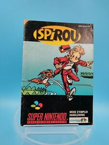 Video Game Manual Be super nintendo Fah Spirou
