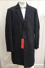 NEW HUGO BY HUGO BOSS Mens Grey Luxury 3 Button Wool SLIM FIT Coat Sz 44 R