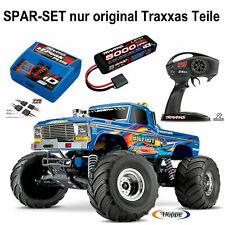 TRAXXAS # BIGFOOT RTR + 5000er Lipo Akku + Traxxas Lader + 12V Lader + 8,4V Akku