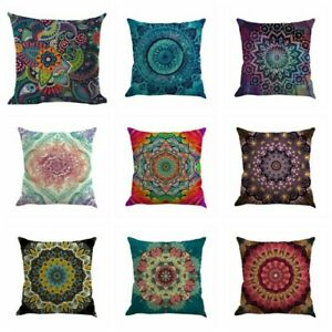 18X18inch Throw Pillow Case Cushion Cover Sofa Indian Mandala Style Home Decor
