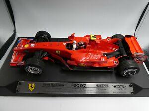 Hot Wheels 1:18 Kimi Raikkonen Ferrari F2007 Hat Trick Australian GP F1 2007