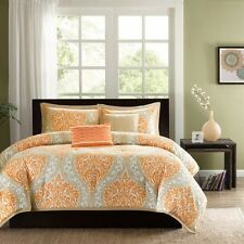 5 Piece Comforter Set, Bedding Bedroom Clothing covers Guest Full/Queen, Orange