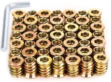 50 Threaded Insert Furniture Screw In Wood Nut Inserts Fastener Bolt 14 20 New