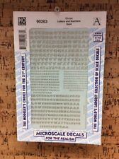 MICROSCALE DECAL HO SCALE 90263: CIRCUS LETTERS / NUMBERS GOLD NEW T-5