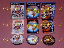 3x PS2 _ NARUTO Ultimate Ninja 1 & NARUTO Uzu.Chr.2 & NARUTO Ultimate Ninja 3