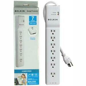 Belkin 7-Outlet Surge Protector with 4-Foot Cable (BE107201-04)