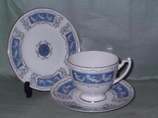 Coalport Revelry Bone China Trio Tea Cup, Saucer & Side Plate (Blue)