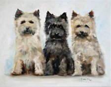 MSSMITH Cairn terrier PRINT dog portrait canine toto