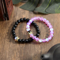 Couple King Queen Crown Bracelets His And Her Friendship 8mm Beads Bracelets New