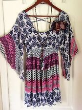 XL-2X Free People Bohemian Lagenlook Hippie Boho Gypsy Renaissance Tunic Dress