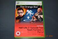 The Orange Box Xbox 360 Half Life 2 Portal UK PAL **PLAYABLE ON XBOX ONE**