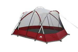 Ozark Trail 13X11 Screen House Tent with Two Large Entrances, Red, 1-Room