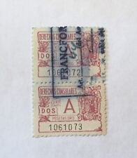 2 Consular Stamps  Spain
