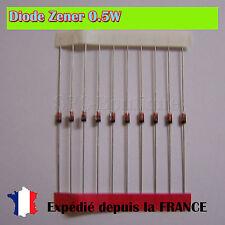Diode Zener BZX79-C2V4, 2.4V 0.5W Boitier DO35