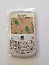 BLACKBERRY 8520 CURVE HOUSING CASE COVER FRONT BACK BATTERY BUTTONS FACIA WHITE