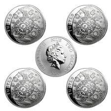 5 x 2 oz Silber Niue Hawksbill Turtle - Karettschildkröte 2015 Stempelglanz