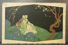 cpa fantaisie dorée marquis marquis elegante elegant romantique