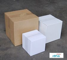 100x Mailing Box 150x150x150mm Regular Slotted Shipping Carton  - Cube Square