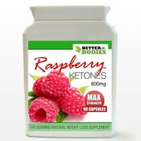 90 STRONG 600MG RASPBERRY KETONES MAX BOTTLE DIET WEIGHT LOSS SLIMMING PILLS
