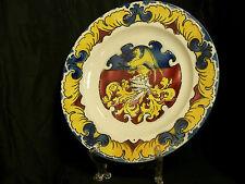 Keller & Guerin Faience Armorial Plate