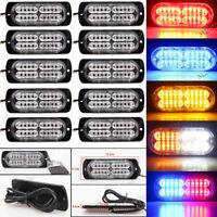10X 4 6 12 20 LED Car Truck Boat Flashing Emergency Strobe Light Warning Lamp US