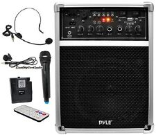 Pyle PWMA170 400W Wireless Speaker W/ 3 Microphones System USB/SD AUX Input