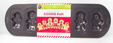 GINGERBREAD 6 Member Family COOKIE PAN Wilton Nonstick NEW Christmas Baking