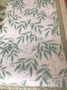 Greendale grey green wallpaper tree foliage leaf price per roll