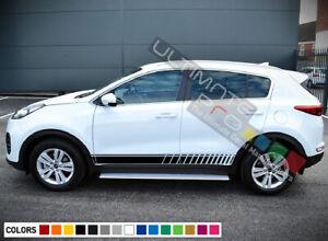 Sticker Decal Vinyl Side Door Stripes for Kia Sportage Roof Spoiler Body sport