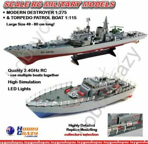 RC Warship Military Collecter Navy Replica Boat Radio Control Torpedo Boat Toy