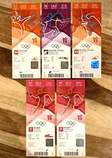 **GENUINE TICKETS** 5 x LONDON 2012 OLYMPIC TICKETS STUBS VARIOUS SPORTS *MINT*