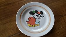 1970s USSR Latvia Riga Walt Disney Mickey mouse Porcelain Plate.