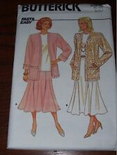 BUTTERICK #4432-LADIES LOOSE BUTTONLESS JACKET-TULIP SKIRT & TOP PATTERN 16-22FF