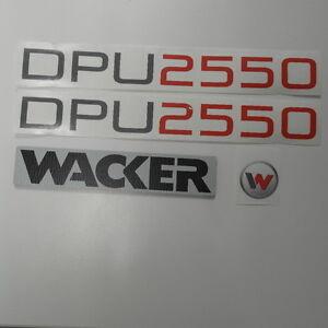 Wacker DPU 2550  3x aufkleber sticker und Wacker Kunstofplatte 3mm 35x180mm