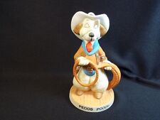 "Pecos Pooch Prairie Dawgs Bisque figurine by United china cowboy dog 4.5"" tall"