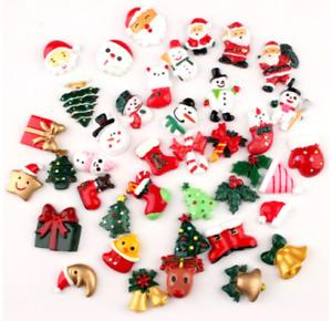 Christmas Flatback Resins Embellishment Bow Cabochon Scrapbooking Craft