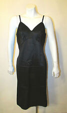 Vintage Van Raalte All Dupont Nylon Black Full Dress Slip 36 Excellent Condition