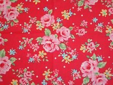 Flower Sugar 9926R Lecien Shabby Cottage Floral Rose ChicRed 9926 R OOP Rare HTF